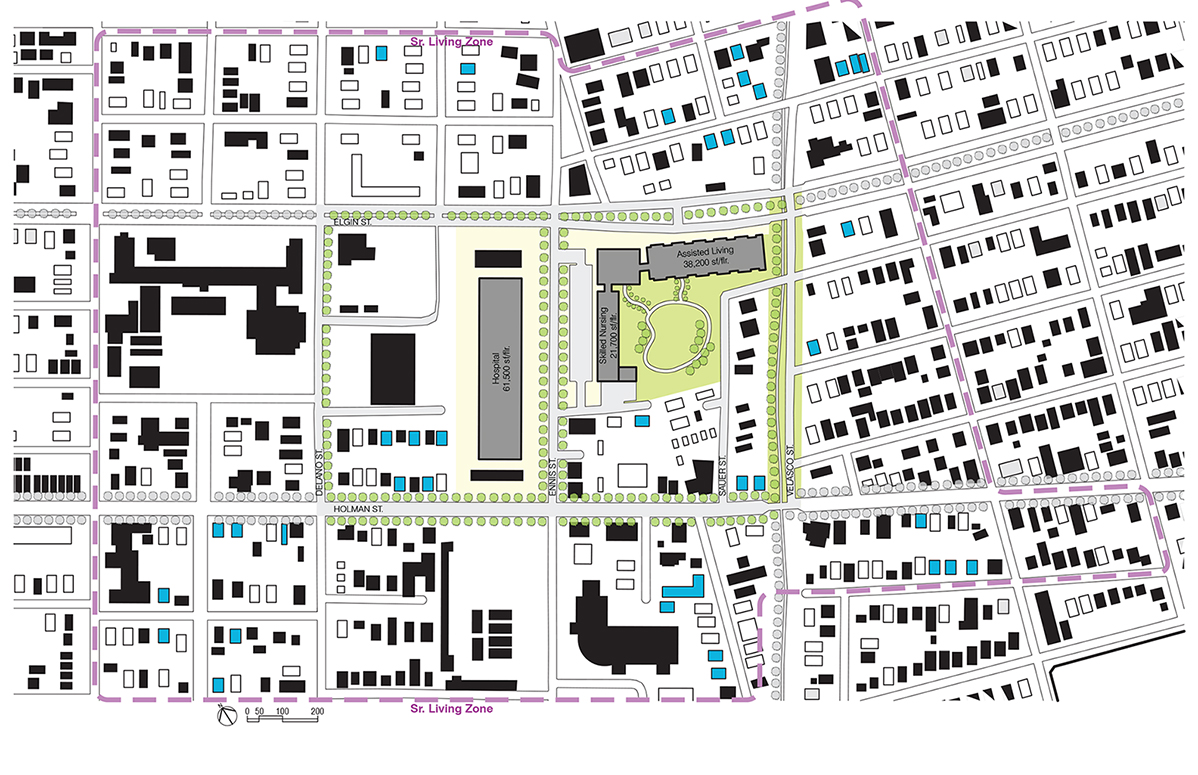 N:Projects582DWGsite map-proposed 1-200 Healthcare (1)